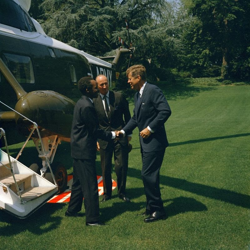 50 JFK-With-The-President-Of-Tanganyika-At-White-House-July-15-1963.jpg