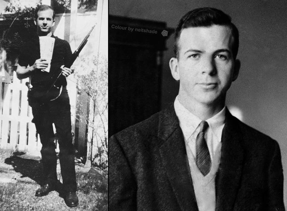 Oswald's rifle photo looks fake.