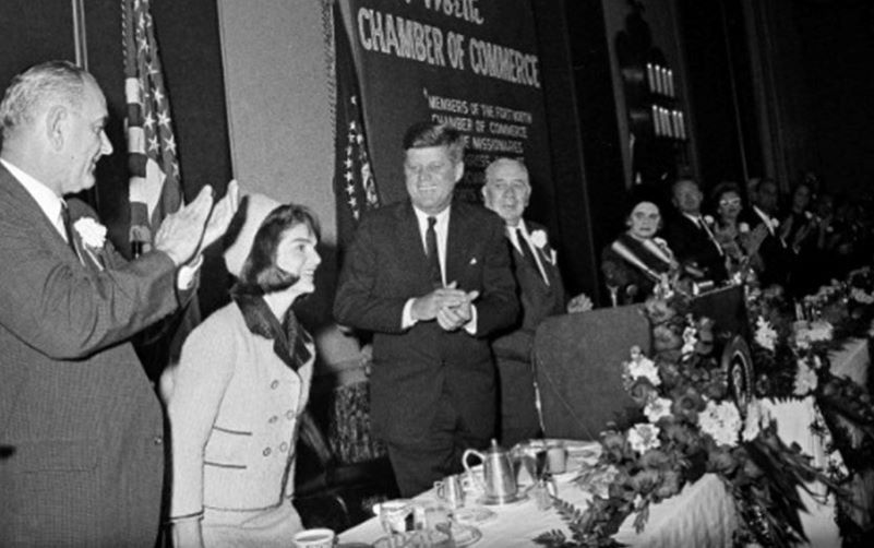 Jackie Kennedy at Ft. Worth breakfast