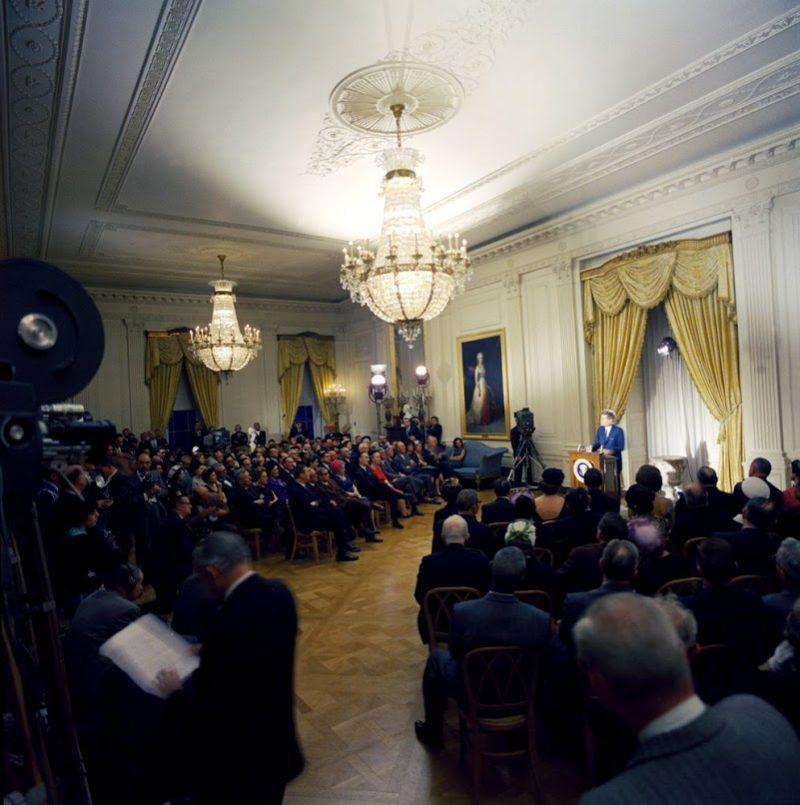 44l JFK-Speaks-In-East-Room-Of-White-House-3-13-61