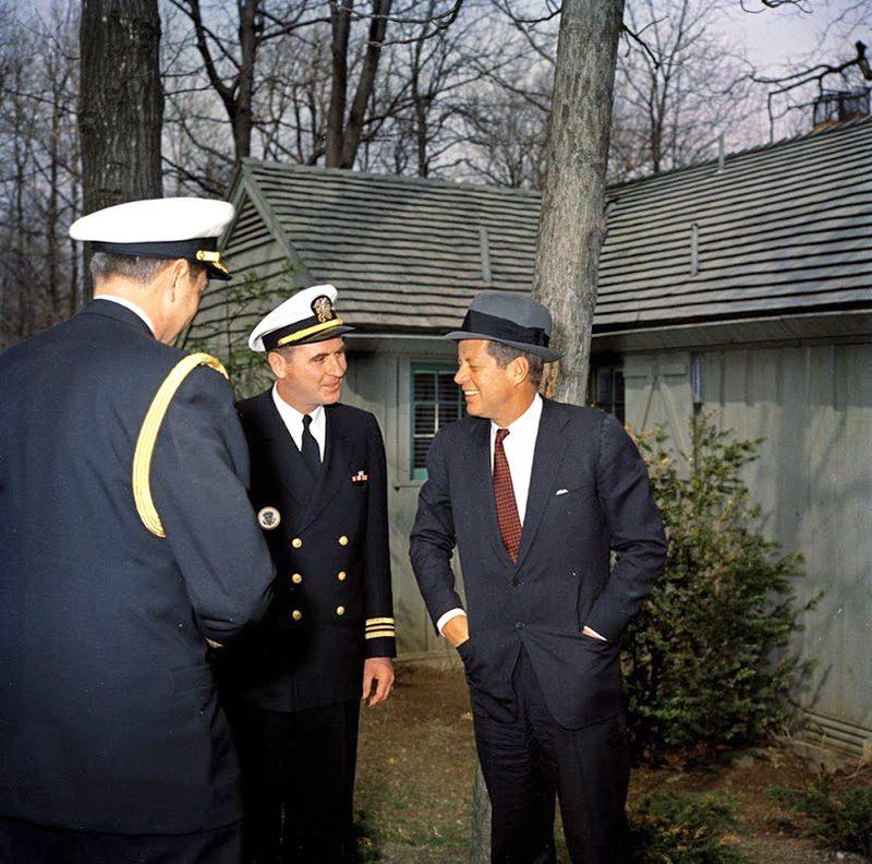 45b JFK-At-Camp-David-In-Maryland-4-22-61