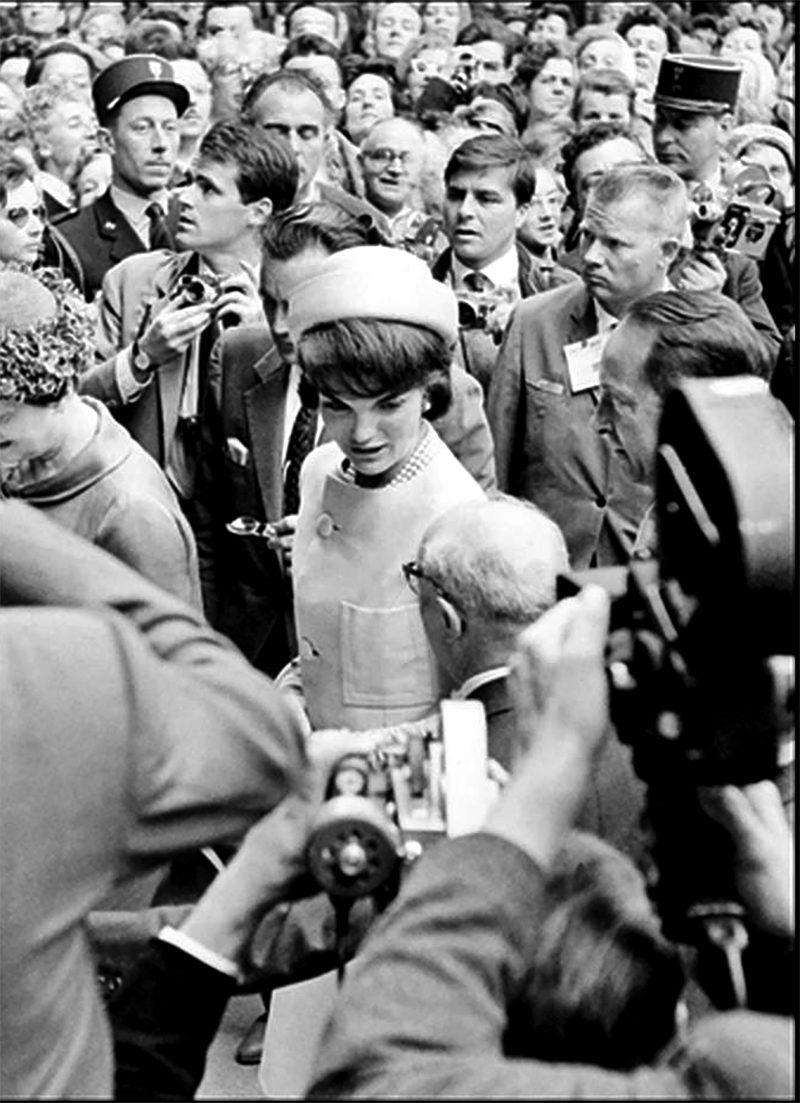 60 Jackie with Paris crowd