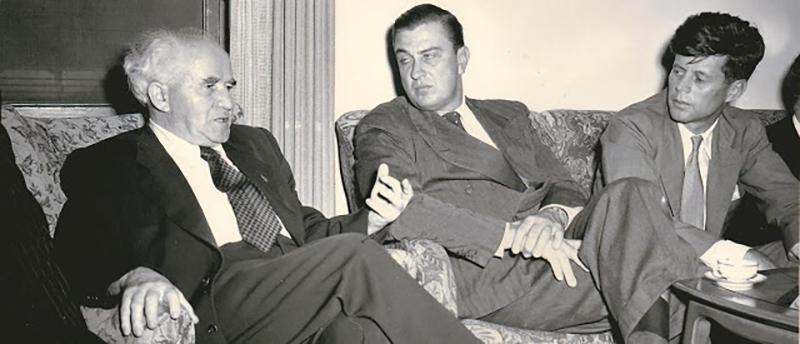 JFK FDR Jr David Ben Gurion Oct 51Israel