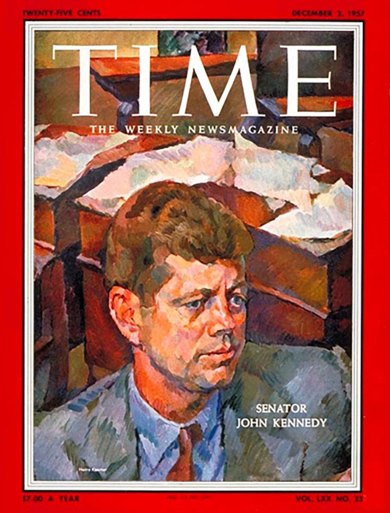 36 JFK on 1957 Time Magazine