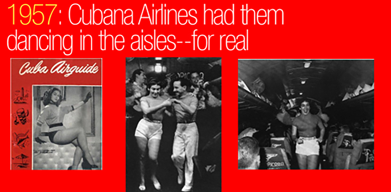 39 Cubana Airlines dancing in the isles