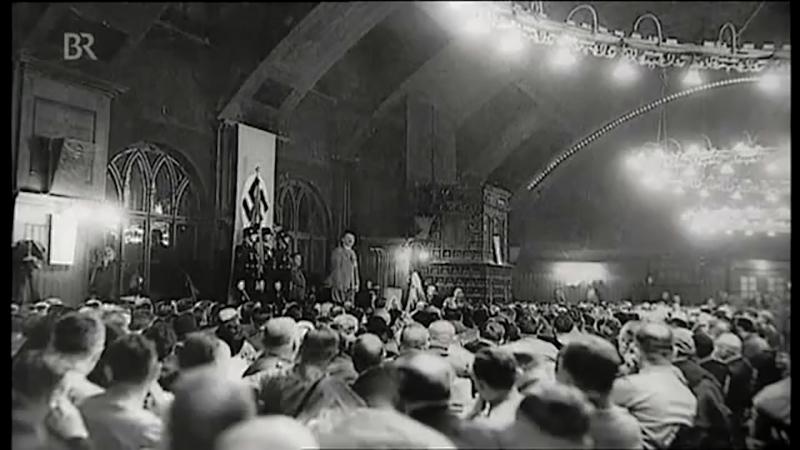 1937 Hitler at the Hofbrau haus